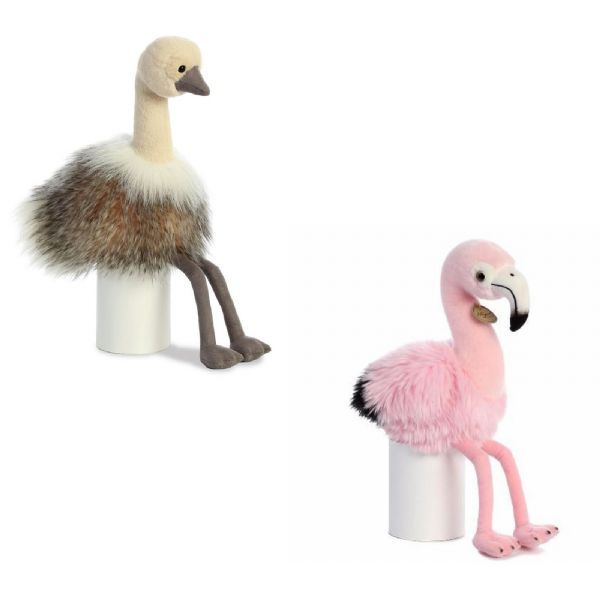 Aurora Luxe Boutique Flamingo Or Ostrich Plush Soft Toy